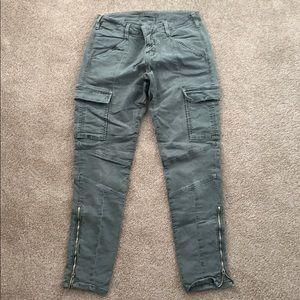 J Brand olive cargo pants